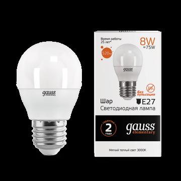 Светодиодная лампа Gauss Elementary 53218, белый