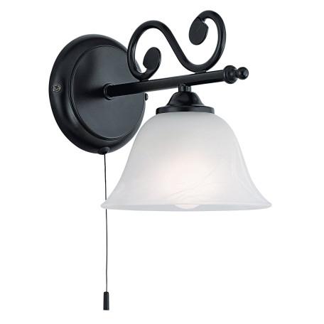 Бра Eglo Murcia 91006, 1xE14x40W, черный, белый, металл, ковка, стекло