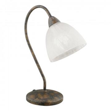 Настольная лампа Eglo Dionis 89899, 1xE14x40W, коричневый, белый, металл, стекло