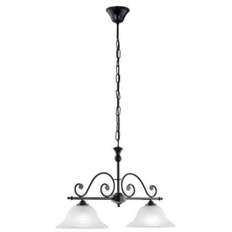 Подвесной светильник Eglo Murcia 91004, 2xE27x60W, черный, белый, металл, ковка, стекло