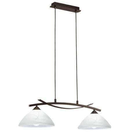 Подвесной светильник Eglo Vinovo 91433, 2xE27x60W, коричневый, белый, металл, стекло