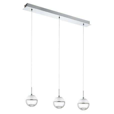 Подвесной светодиодный светильник Eglo Montefio 1 93784, LED 15W 3000K 1440lm, хром, белый, прозрачный, металл, стекло