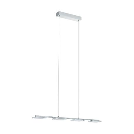 Подвесной светодиодный светильник Eglo Cartama 94244, LED 18W 3000K 1920lm, хром, белый, металл, пластик