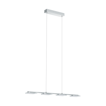 Подвесной светодиодный светильник Eglo Cartama 94244, хром, белый, прозрачный, металл, пластик