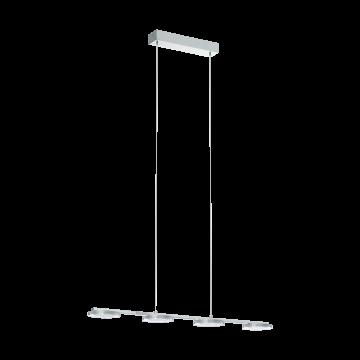 Подвесной светодиодный светильник Eglo Cartama 94245, хром, белый, прозрачный, металл, пластик