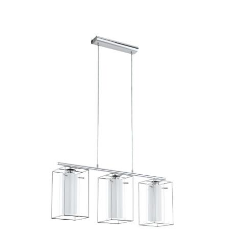 Подвесной светильник Eglo Loncino 1 94378, 3xE27x60W, хром, белый, металл, металл со стеклом