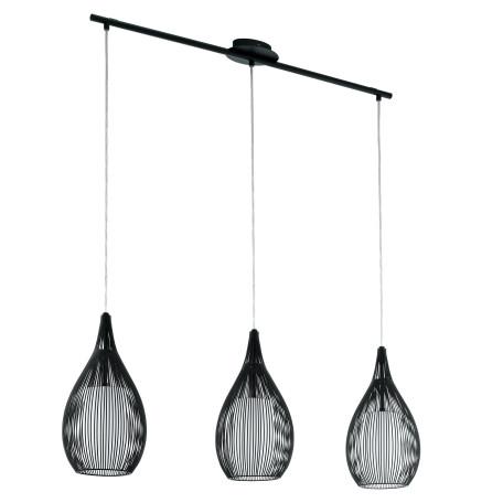 Подвесной светильник Eglo Razoni 94389, 3xE27x60W, черный, металл