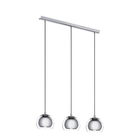 Подвесной светильник Eglo Rocamar 94593, 3xE27x60W, хром, прозрачный, металл, металл со стеклом