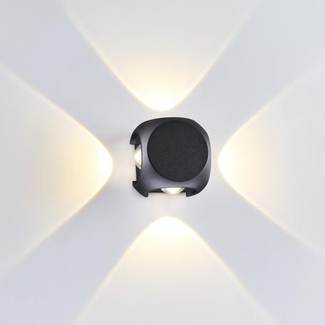 Настенный светодиодный светильник Odeon Light Hightech Miko 4222/8WL, IP54, LED 4W 3200K 716lm, черный, металл