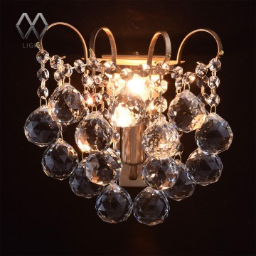 Бра MW-Light Жемчуг 232028201, 1xE14x60W, бронза, прозрачный, металл, хрусталь