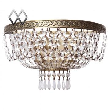 Бра MW-Light Изабелла 351025903, бронза, прозрачный, металл, хрусталь