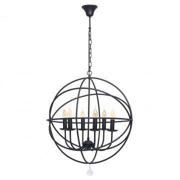 Подвесная люстра MW-Light Замок 249017106, черный, прозрачный, металл
