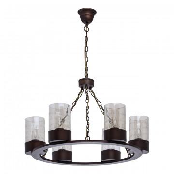 Подвесная люстра MW-Light Замок 249017406, коричневый, бежевый, металл, стекло