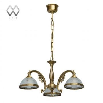 Подвесная люстра MW-Light Ангел 295010903, латунь, матовый, металл, стекло