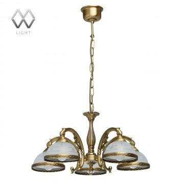Подвесная люстра MW-Light Ангел 295011005, латунь, матовый, металл, стекло