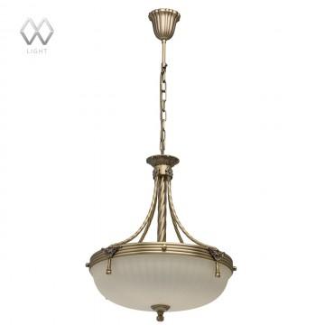 Подвесная люстра MW-Light Афродита 317010504, бронза, бежевый, металл, стекло
