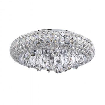 Потолочная люстра MW-Light Венеция 276014207, хром, прозрачный, металл, хрусталь