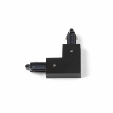 L-образный левый соединитель для шинопровода Astro Track 6020014 (2067), черный, пластик