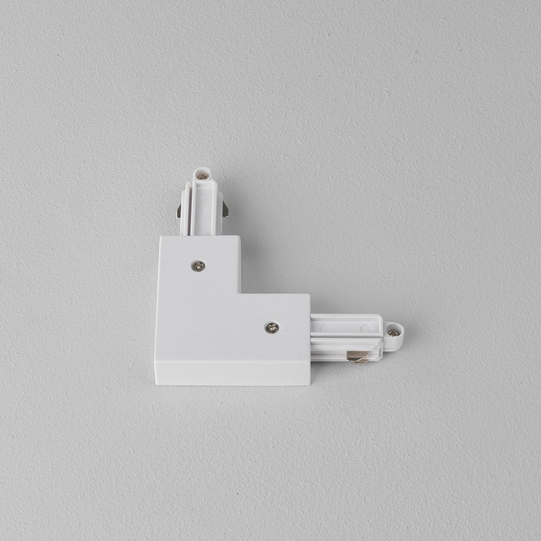 L-образный правый соединитель для шинопровода Astro Track 6020007 (1994), белый, пластик - фото 1