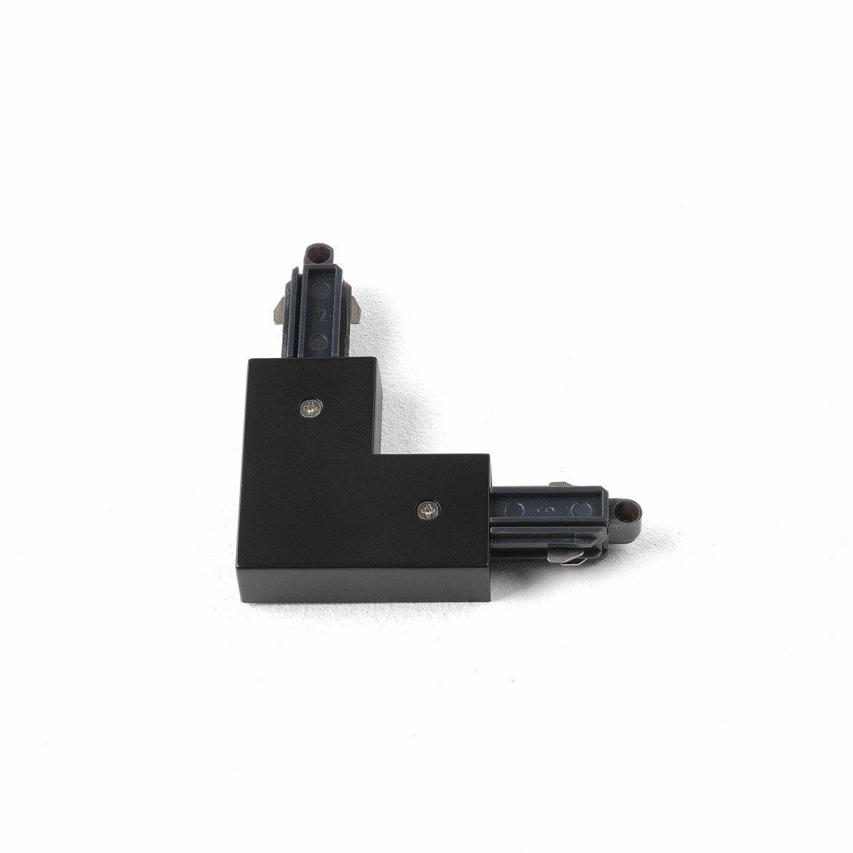 L-образный правый соединитель для шинопровода Astro 6020015 (2068), черный, пластик - фото 1