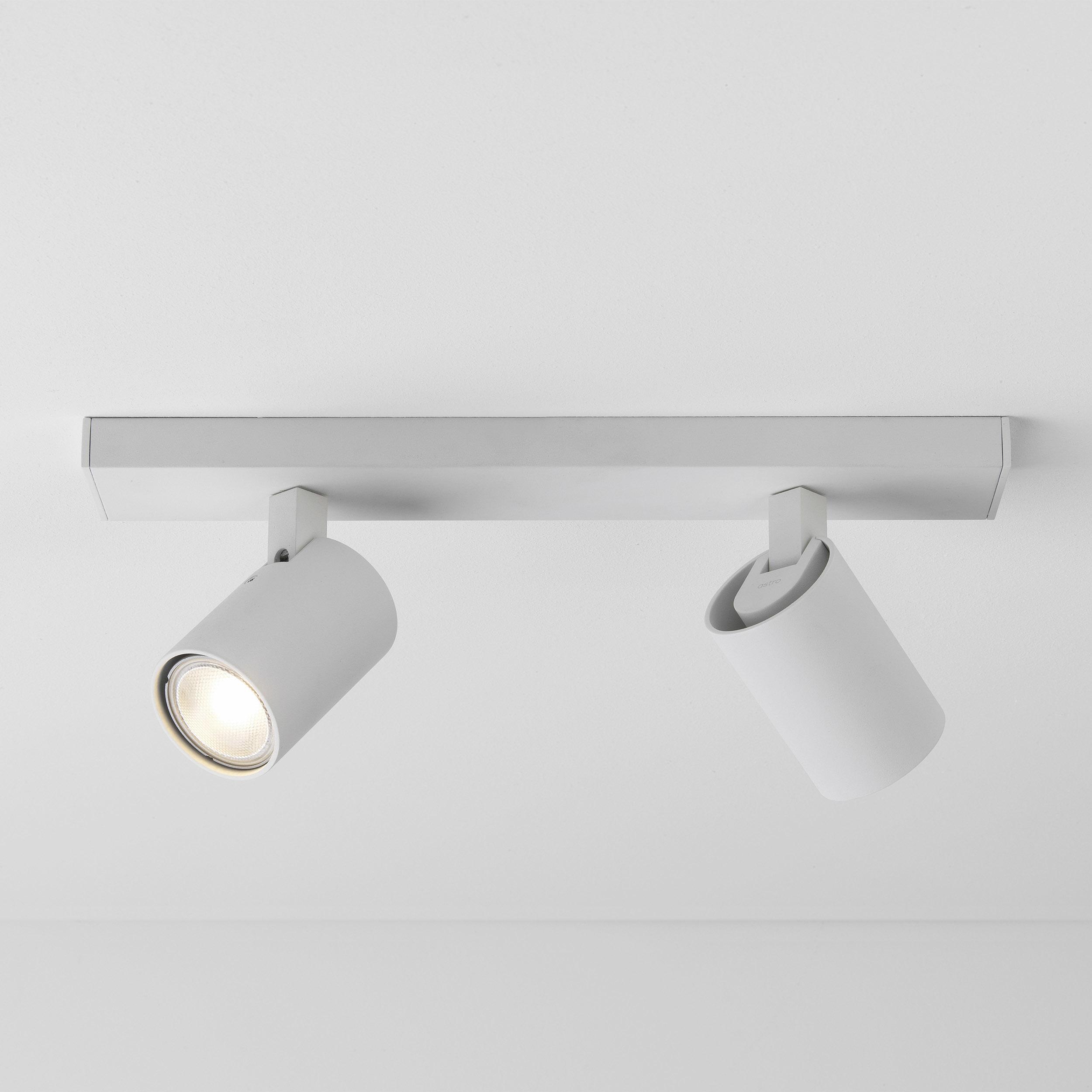 Потолочный светильник с регулировкой направления света Astro Ascoli 1286034 (6159), 2xGU10x50W, белый, металл - фото 1