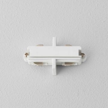 Внутренний прямой соединитель для шинопровода Astro Track 6020004 (1991), белый, пластик