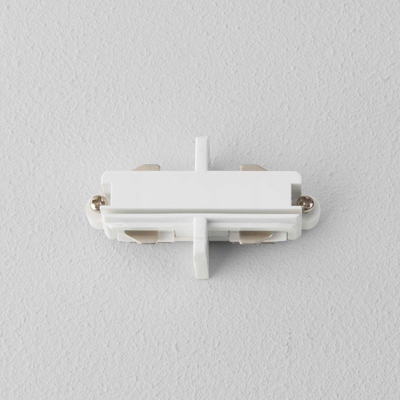 Внутренний прямой соединитель для шинопровода Astro 6020004 (1991), белый, металл, пластик - фото 1