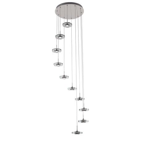 Светодиодная люстра-каскад ST Luce Vedette SL569.103.10, LED 30W, 4000K (дневной), хром, прозрачный, металл, пластик