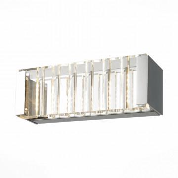 Настенный светодиодный светильник ST Luce Luogo SL580.121.01, LED 12W 4000K, хром, прозрачный, металл, пластик