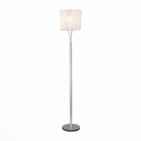 Торшер ST Luce Onde SL116.505.03, 3xE27x60W, серебро, белый, металл, стекло