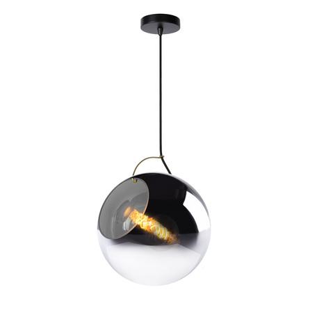 Подвесной светильник Lucide Jazzlynn 25405/30/65, 1xE27x60W, черный, дымчатый, металл, стекло