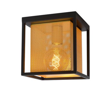 Потолочный светильник Lucide Sansa 21122/01/30, 1xE27x40W, черный, матовое золото, металл