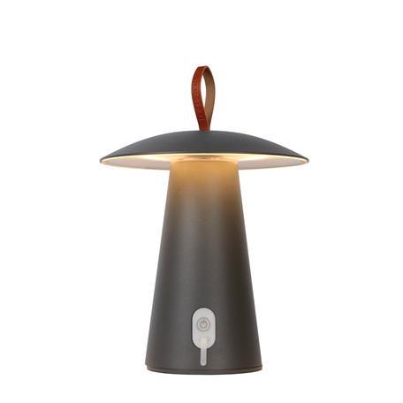 Садовый светодиодный светильник Lucide La Donna 27500/02/29, IP54, LED 2W 2700K 263lm CRI80, серый, металл, кожа