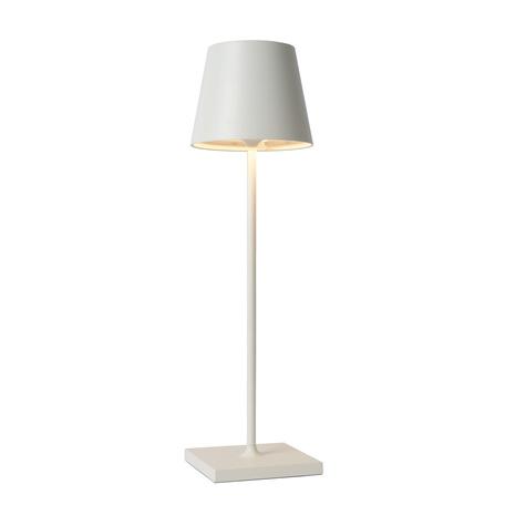 Садовый светодиодный светильник Lucide Justin 27888/03/31, IP54, LED 2,2W 3000K + RGB 154lm, белый, металл