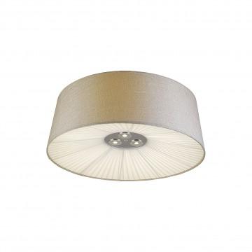 Потолочный светодиодный светильник Favourite Cupola 1056-8C, 8xE27x25W + LED 3W, бежевый, белый, хром, металл, текстиль