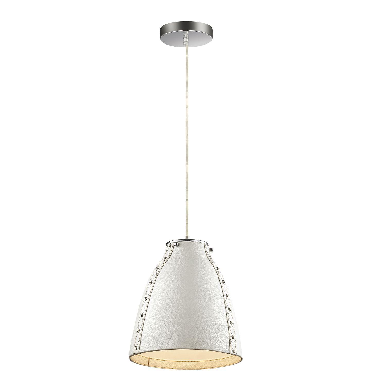 Подвесной светильник Favourite Haut 1367-1P, 1xE27x60W, хром, белый, металл, кожа/кожзам - фото 1