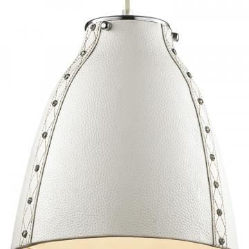 Подвесной светильник Favourite Haut 1367-1P, 1xE27x60W, хром, белый, металл, кожа/кожзам - миниатюра 2