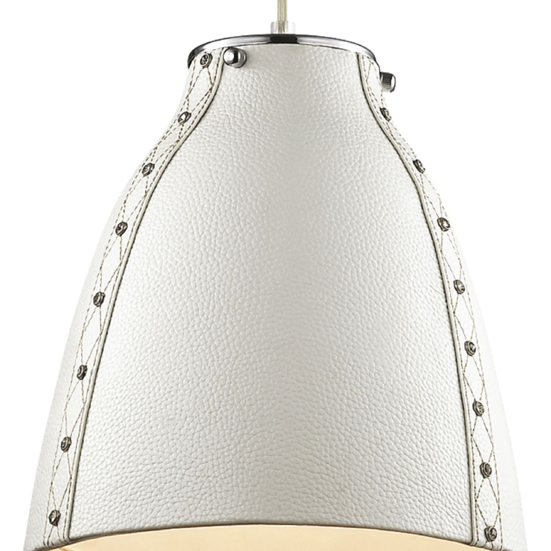 Подвесной светильник Favourite Haut 1367-1P, 1xE27x60W, хром, белый, металл, кожа/кожзам - фото 2