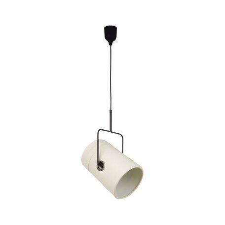 Подвесной светильник с регулировкой направления света Favourite Studio 1245-1P, 1xE14x25W, черный, бежевый, металл, текстиль