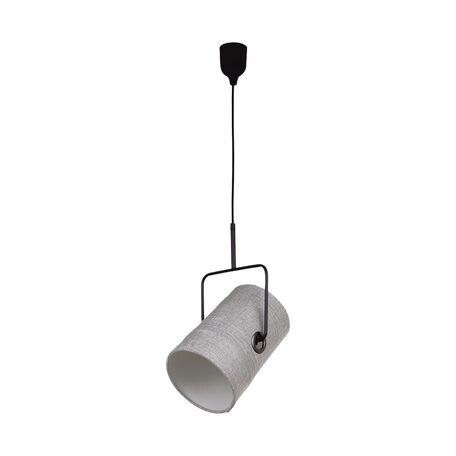Подвесной светильник с регулировкой направления света Favourite Studio 1246-1P, 1xE14x25W, черный, серый, металл, текстиль