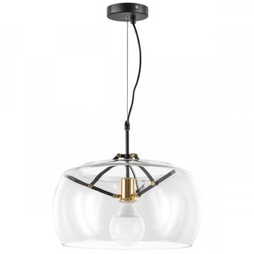 Подвесной светильник Lightstar Acquario 752010, 1xE27x40W, черный, прозрачный, металл, стекло