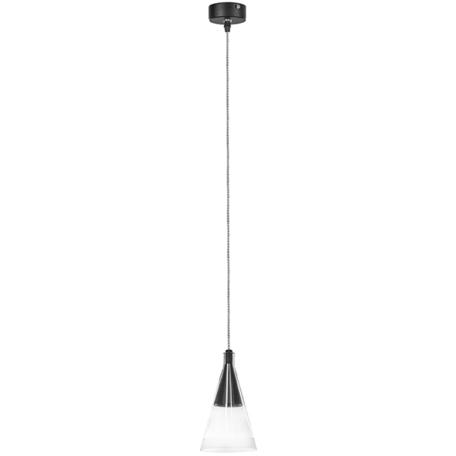 Подвесной светильник Lightstar Cone 757017, 1xGU10x40W, черный, прозрачный, металл, стекло