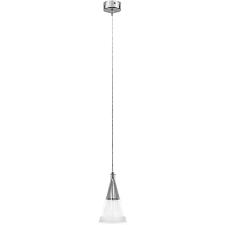 Подвесной светильник Lightstar Cone 757019, 1xGU10x40W, хром, прозрачный, металл, стекло