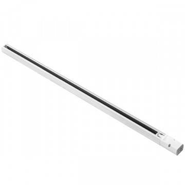 Шинопровод в сборе с питанием и заглушкой Lightstar Barra 504015, белый, металл