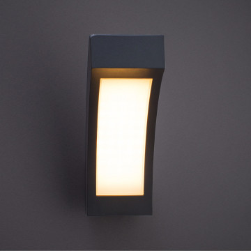 Arte Lamp Inchino A8101AL-1GY, IP44, LED 12W, 3000K (теплый), серый, белый