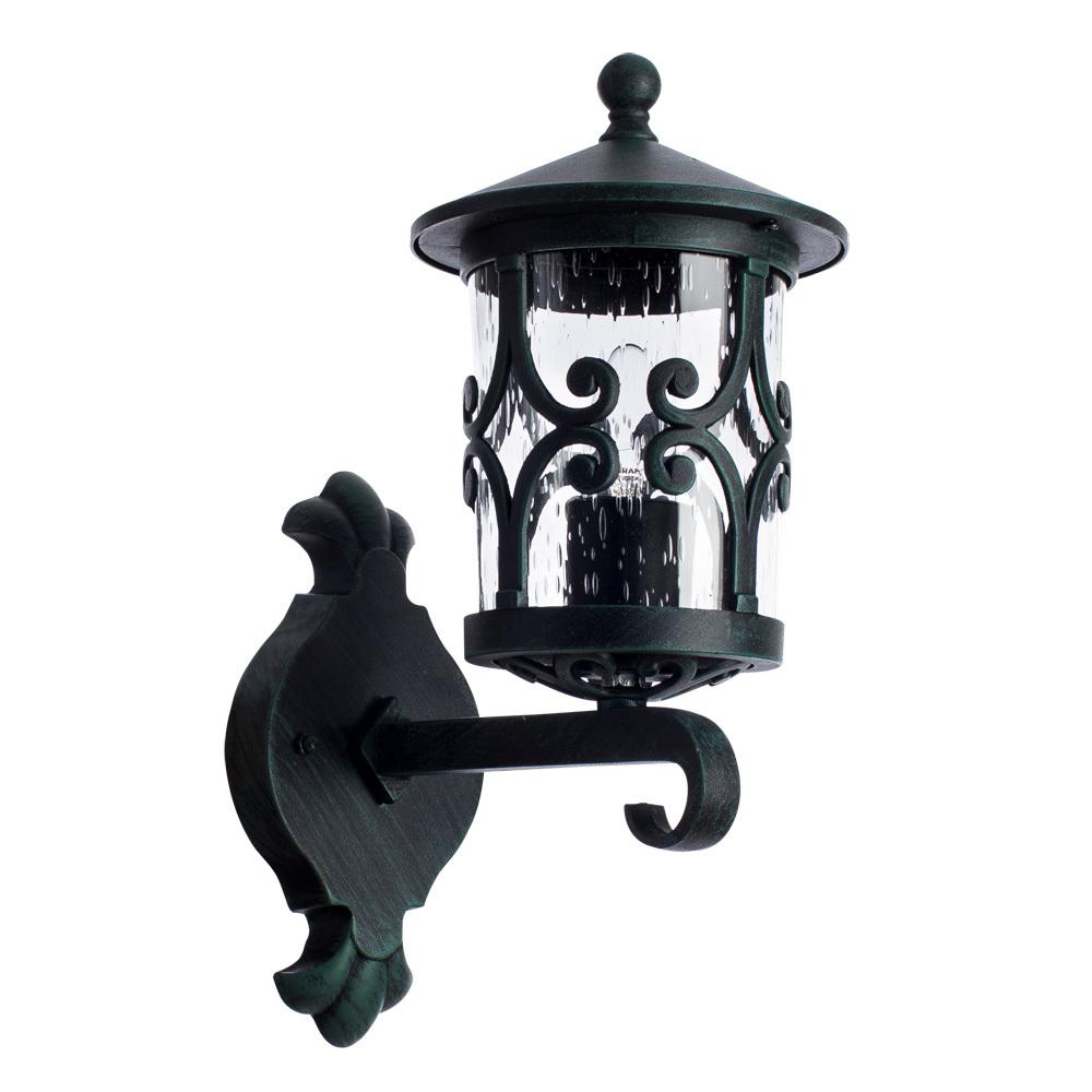 Настенный фонарь Arte Lamp Persia A1451AL-1BG, IP21, 1xE27x75W, бирюзовый, прозрачный, металл, стекло - фото 1