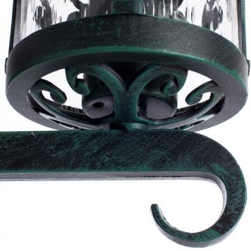 Настенный фонарь Arte Lamp Persia A1451AL-1BG, IP21, 1xE27x75W, бирюзовый, прозрачный, металл, стекло - миниатюра 4