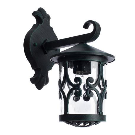 Настенный фонарь Arte Lamp Persia A1452AL-1BG, IP21, 1xE27x75W, бирюзовый, прозрачный, металл, стекло