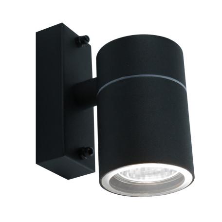 Настенный светильник Arte Lamp Instyle Mistero A3302AL-1BK, IP44, 1xGU10x35W, черный, металл, стекло