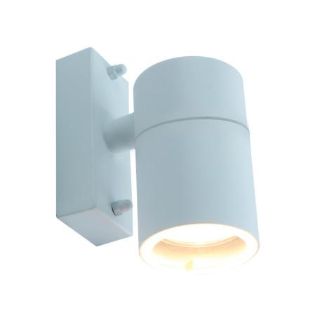 Настенный светильник Arte Lamp Instyle Mistero A3302AL-1WH, IP44, 1xGU10x35W, белый, металл, стекло